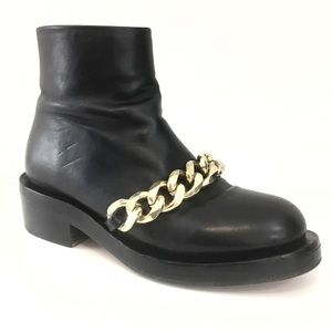 Givenchy Laura Curb Chain Leather Ankle Boots